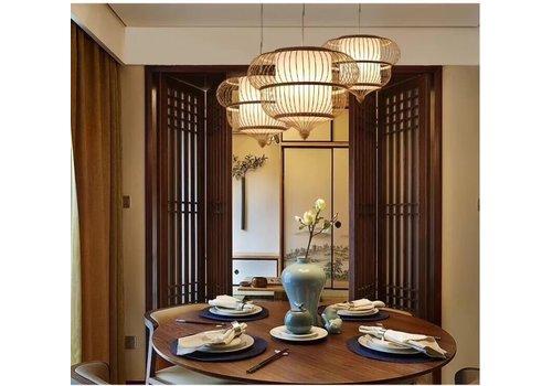 Fine Asianliving Abat-jour Plafonnier Bambou Fait Main - Adeline