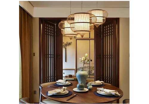 Fine Asianliving Ceiling Light Bamboo Lampshade Handmade - Adeline