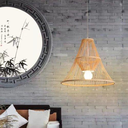 Ceiling Light Bamboo Lampshade Handmade - Maycee