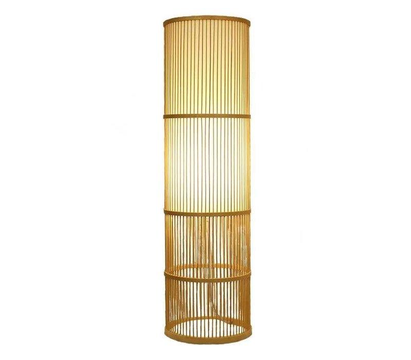 Fine Asianliving Floor Standing Bamboo Light Handmade Leslie H100cm