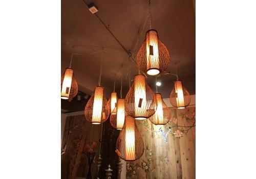 Fine Asianliving Bamboe Hanglamp Handgemaakt - Amber