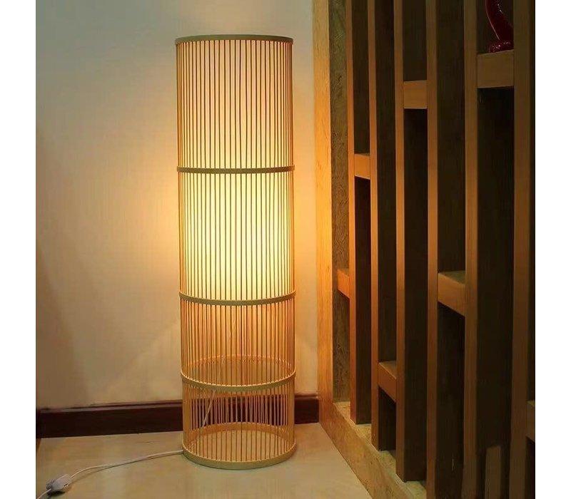 Bamboe Vloerlamp Handgemaakt - Leslie H100cm