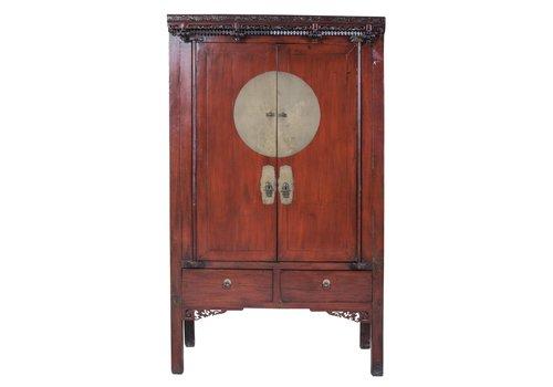Fine Asianliving Armoire de Mariage Chinoise Antique Brun L106xP65xH173cm
