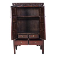 Antique Chinese Wedding Cabinet W106xD65xH173cm