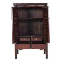Armoire de Mariage Chinoise Antique Brun L106xP65xH173cm
