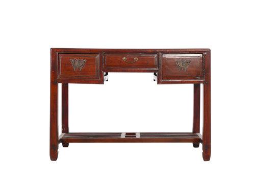 Fine Asianliving Antiek Chinees Bureau met Vlinder Laden