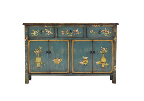 Fine Asianliving Fine Asianliving Chinese Sideboard Blue Handpainted