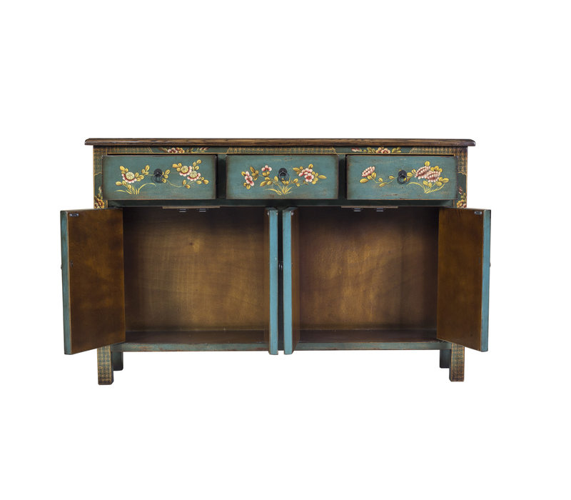 Fine Asianliving Chinese Sideboard Blue Handpainted