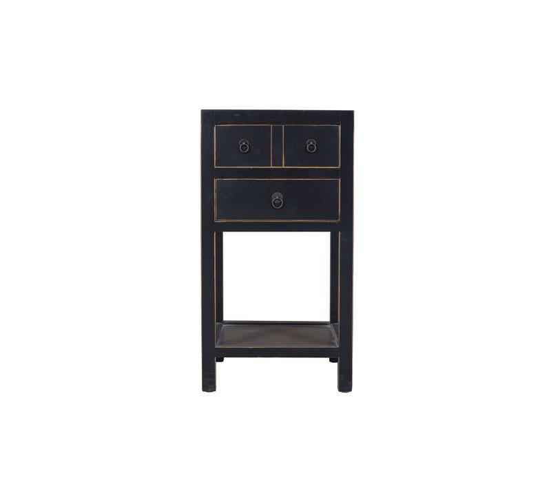 Table d'appoint chinoise peinte à la main en noir