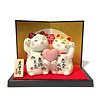 Fine Asianliving Lucky Cat Couple of Love