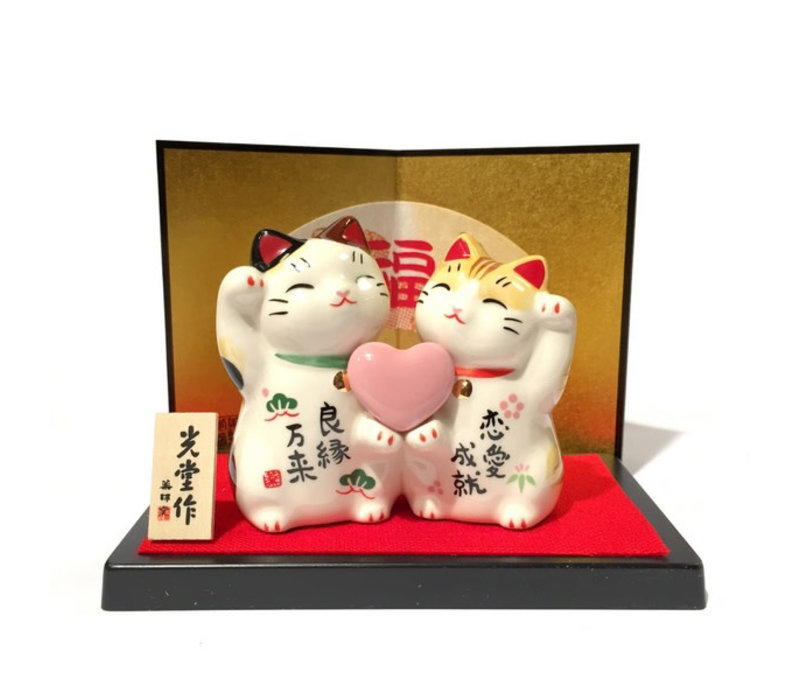 Lucky Cat Couple of Love
