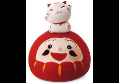 Fine Asianliving Lucky Cat Cheerful Lucky Daruma Handmade Japan