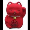 Fine Asianliving Lucky Cat Maneki Neko Mini Red