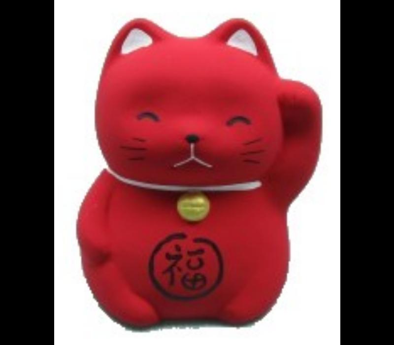Lucky Cat Maneki Neko Mini Rood