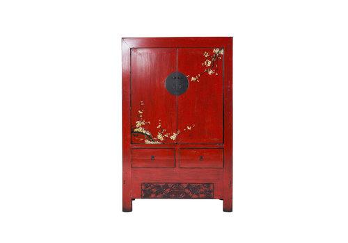 Fine Asianliving Chinese Bruidskast Sakura Vintage Rood Lente