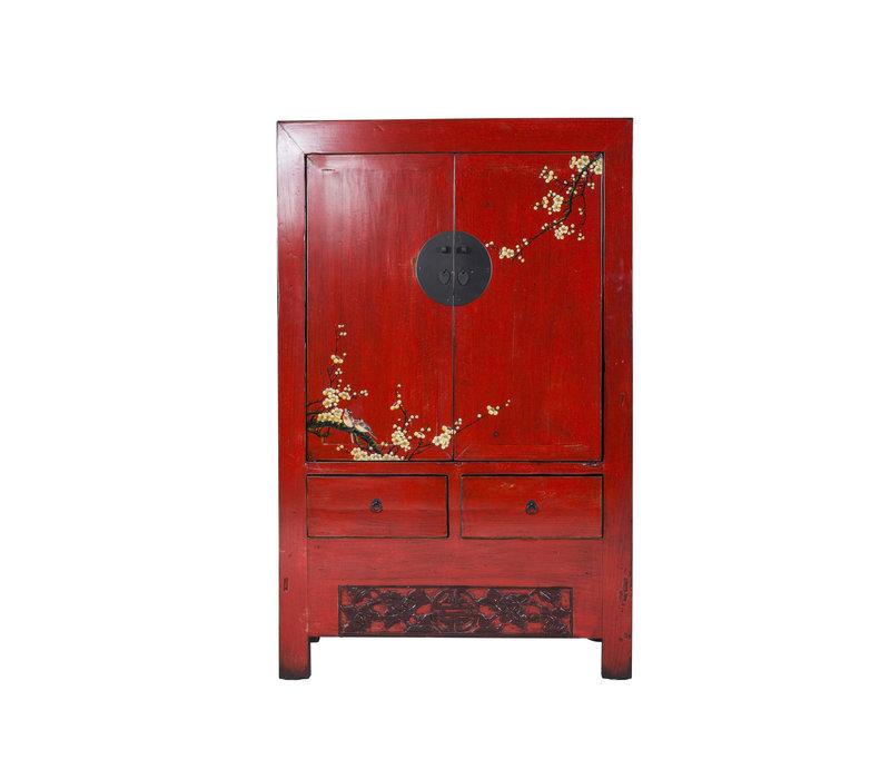 Chinese Bruidskast Sakura Vintage Rood Lente