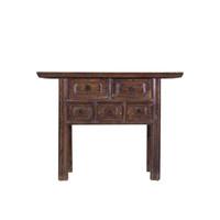 Mesa Consola China con Cajones Pintado a Mano Marrón