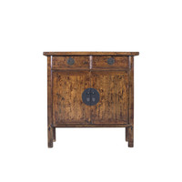Chinese Cabinet Hand Painted Brown - Shangdong