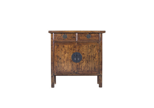 Fine Asianliving Chinese Cabinet Hand Painted Brown - Shangdong