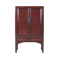 Chinese Cabinet Hand Craved Poem - Fujian