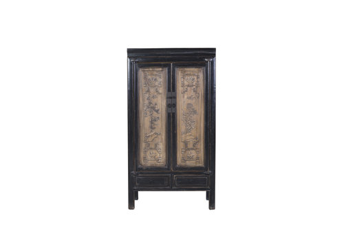 Fine Asianliving Chinese Cabinet Medium Hand Craved Designed