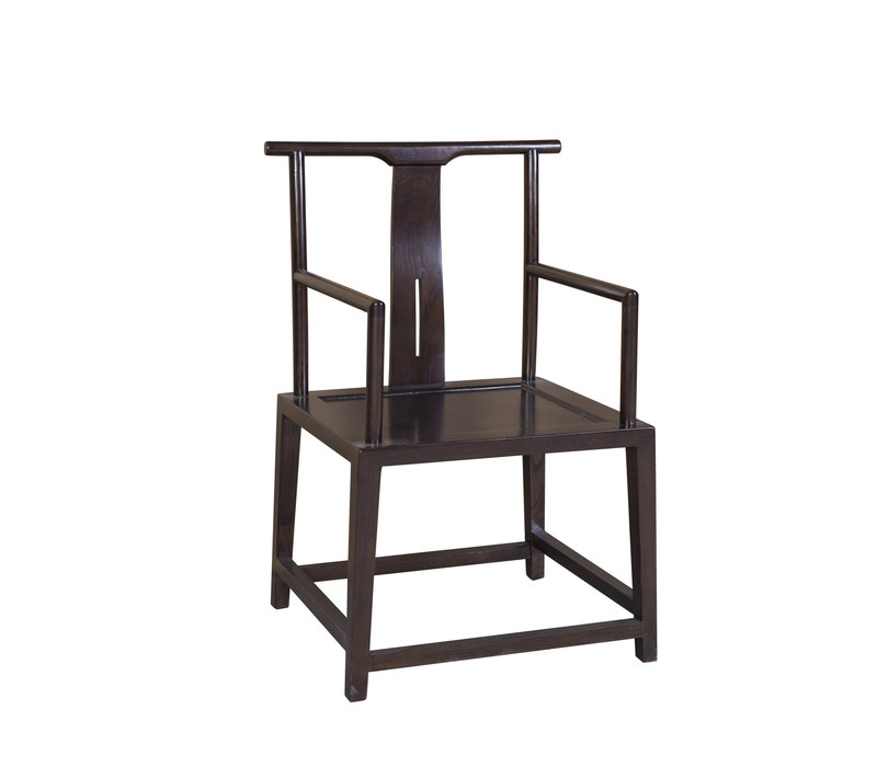 Chinees Office Chair Traditional Designed Hand Painted Brown Black