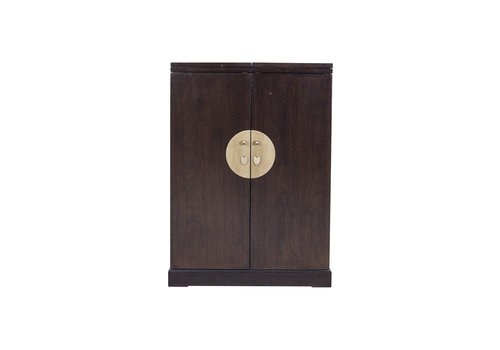 Fine Asianliving Chinese Wine Cabinet Traditional Dark Brown