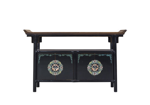 Fine Asianliving Chinese Sideboard Handpainted Tibetan Inspired
