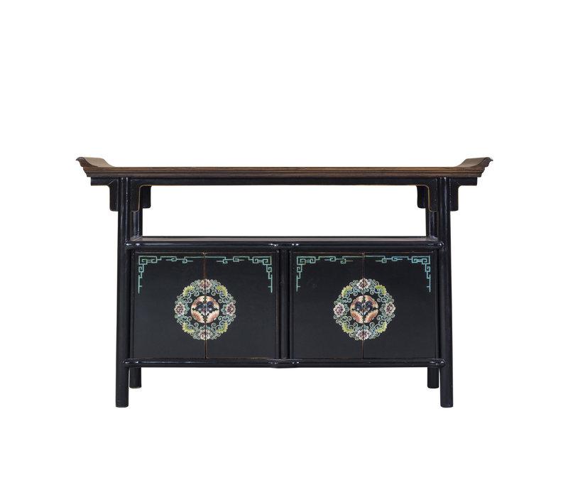 Chinese Sideboard Handpainted Tibetan Inspired