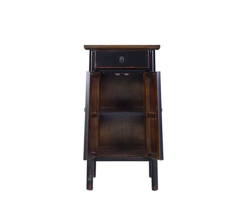 Chinese Cupboard Handcrafted Black Tibetan Inspired