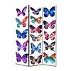 Fine Asianliving Paravent Raumteiler Trennwand 3-teilig Schmetterlinge B120xH180cm