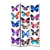 Fine Asianliving Room Divider Privacy Screen 3 Panels W120xH180cm Butterflies