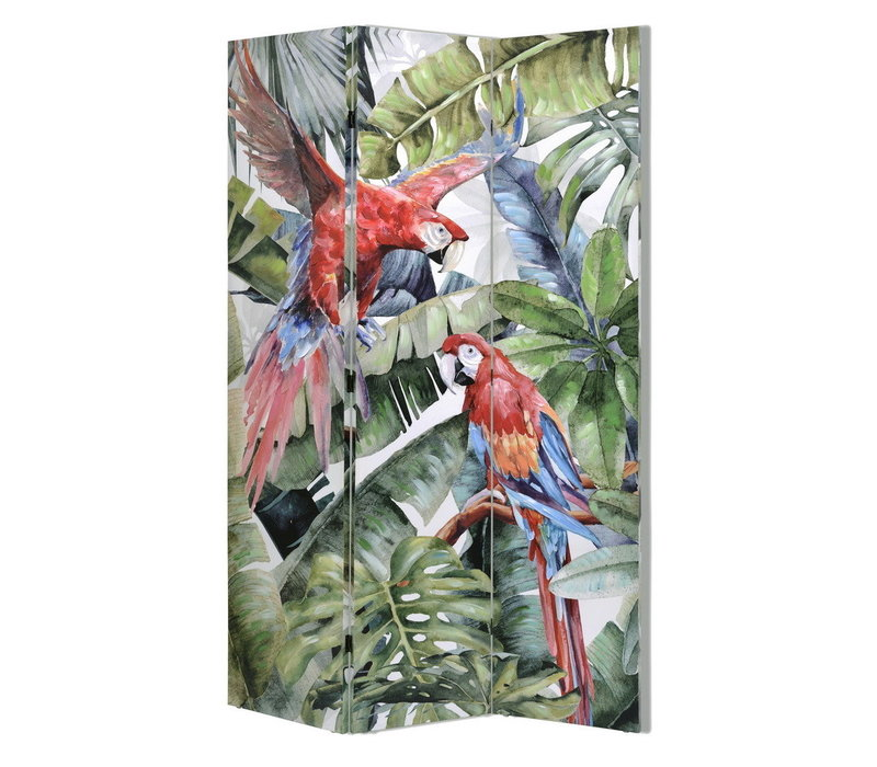 Room Divider Privacy Screen 3 panel Parrots W120xH180cm