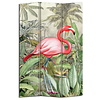 Fine Asianliving Fine Asianliving Room Divider Privacy Screen 3 panel Botanic Flamingo L120xH180cm