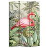 Fine Asianliving Paravent sur Toile 3 panneaux Botanique Flamant L120xH180cm
