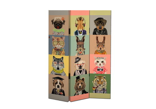 Fine Asianliving PREORDER 26/11/2020 Fine Asianliving Room Divider Privacy Screen 3 panel Animals L120xH180cm