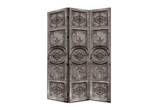 Fine Asianliving Biombo Separador de Lienzo A120xA180cm 3 Paneles Puertas Indias