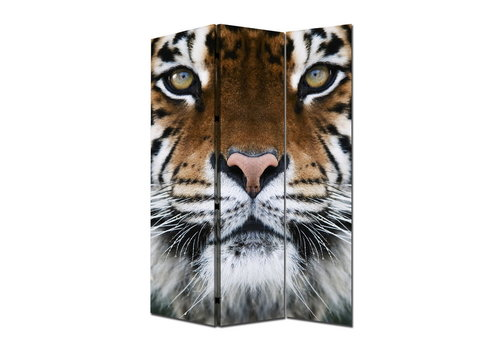 Fine Asianliving Room Divider Privacy Screen 3 Panels Tiger W120xH180cm