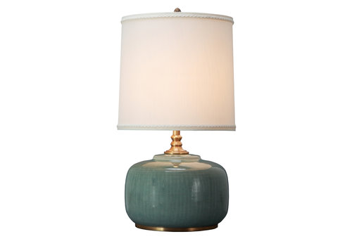 Fine Asianliving Oriental Table Lamp Porcelain with Lampshade Mint