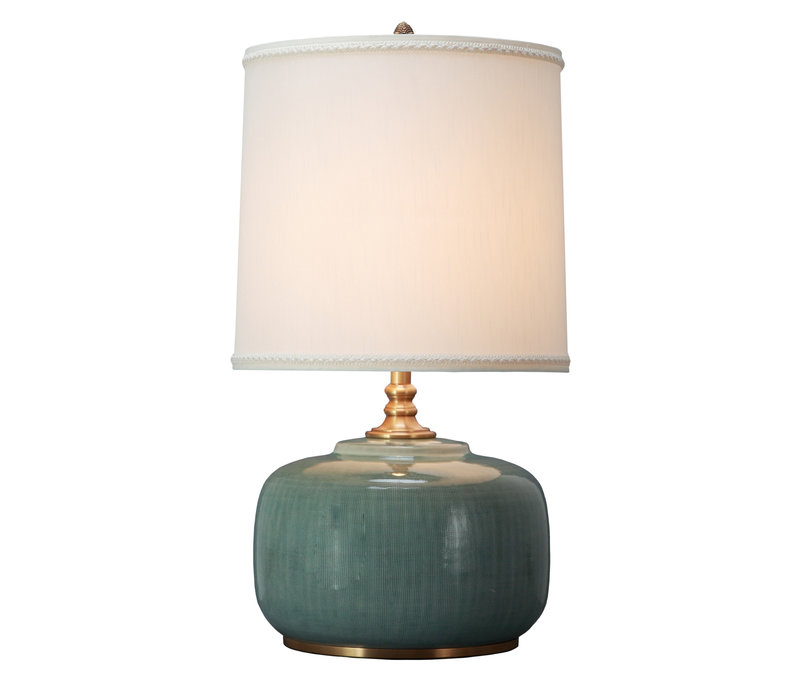 Oriental Table Lamp Porcelain with Lampshade Mint