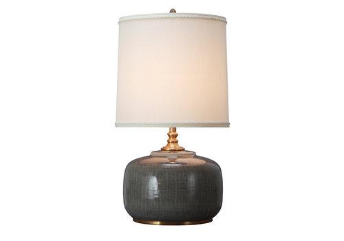 Fine Asianliving Oosterse Tafellamp Porselein Dark Grey met Kap