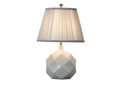 Fine Asianliving Tafellamp Porselein met Kap White Art