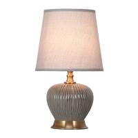 Tafellamp Porselein met Kap Donker Grijs