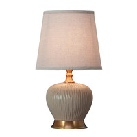 Tafellamp Porselein met Kap Beige