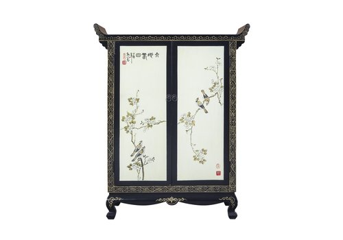 Fine Asianliving Chinese Cabinet Hand-painted Spring