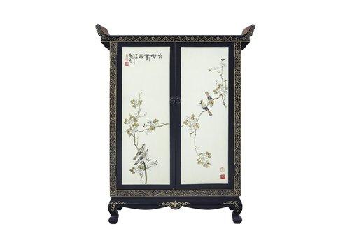 Fine Asianliving Chinese Kast Handbeschilderde Lente