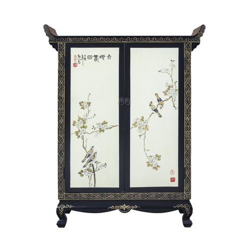 Chinese Cabinet Hand-painted Spring