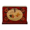 Fine Asianliving Antique Chinese Storage Trunk Hand Painted Vintage Style - Child with fish
