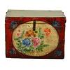 Fine Asianliving Meuble de Rangement Chinois Antique Peint à la Main Style Vintage - Fleurs D