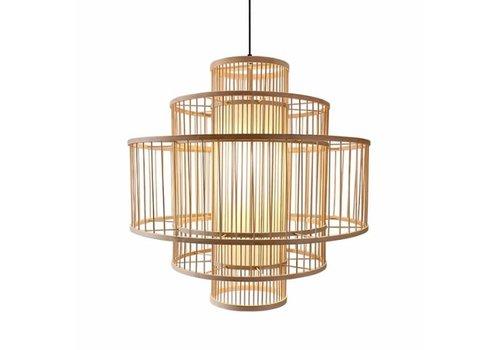Fine Asianliving Abat-jour Plafonnier Bambou Fait Main - Lena D50cm